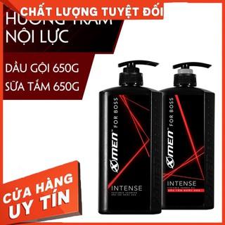 Combo Dầu gội nước hoa 650g + Sữa tắm nước hoa X-Men for Boss Intense 650g – Hàng nhập khẩu