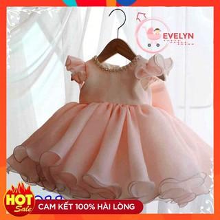 Váy đầm xoè 👗 FreeShip + Tặng kèm nơ 🌺 Đầm công chúa Evelyn cho bé siêu xinh VF11 E001 E003