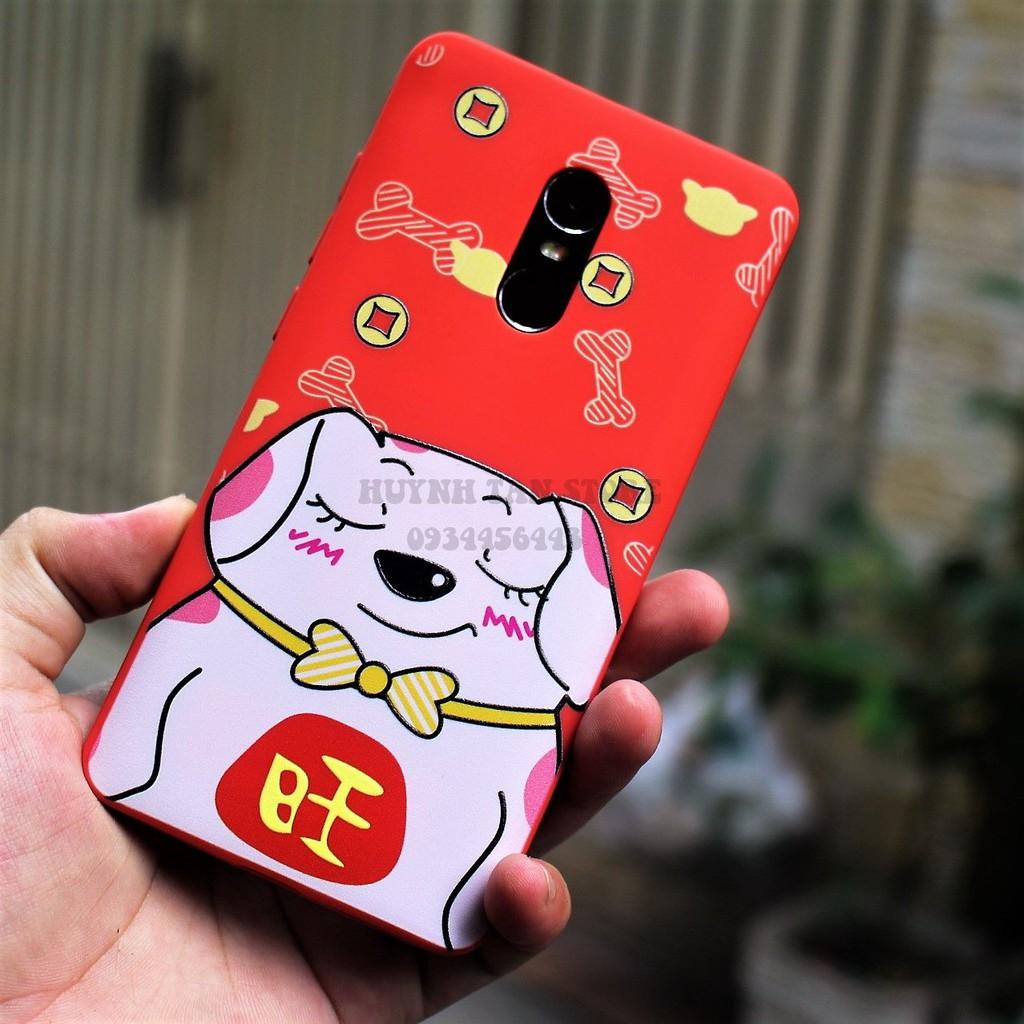 Xiaomi Redmi note 4X/ Note 4 Snap 625 - [Bộ 5] Ốp TPU dẻo in hình 3D nổi tết 2018 cực đẹp