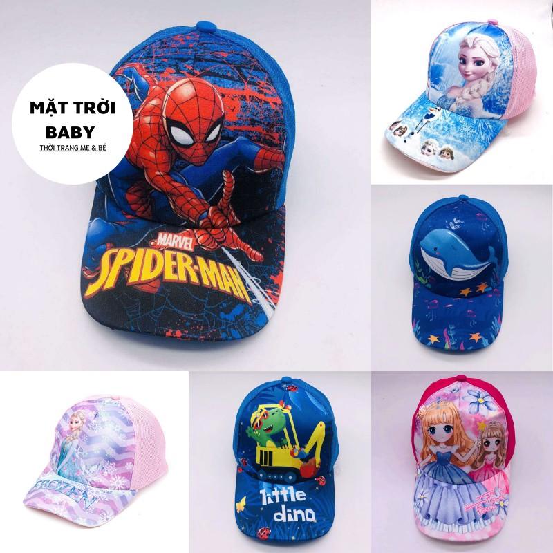 Mũ cho bé mũ lưỡi trai cho bé hình dễ thương cho bé 4-12 tuổi