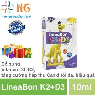 Lineabon K2 D3 Drops. Vitamin D3 K2 cho bé, bổ sung canxi, phát triển chiều cao. Giúp xương, răng chắc khỏe
