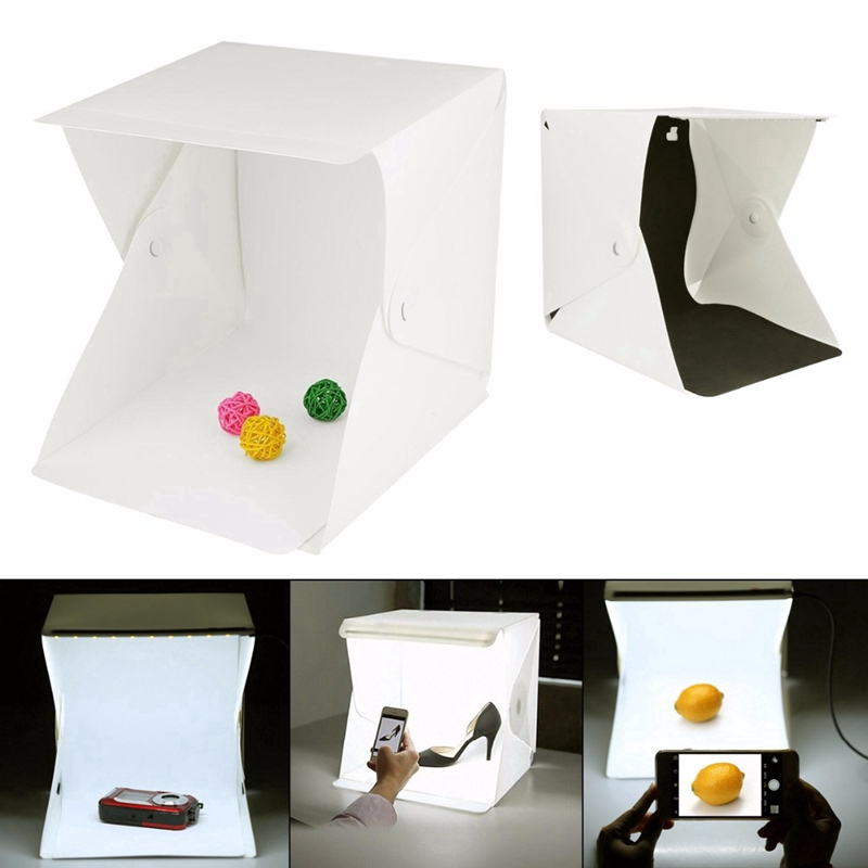 20CM Studio Light Room Portable Photography Box Photo Led Tent Foldable Box