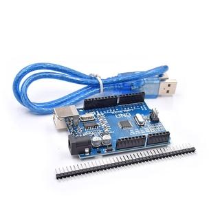 Bộ Mạch Uno R3 Mega328P Ch340G Cho Arduino Uno R3 + Cáp USB thumbnail