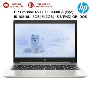 Laptop HP ProBook 450 G7 9GQ38PA Bạc i5-10210U| 8GB| 512GB| 15.6