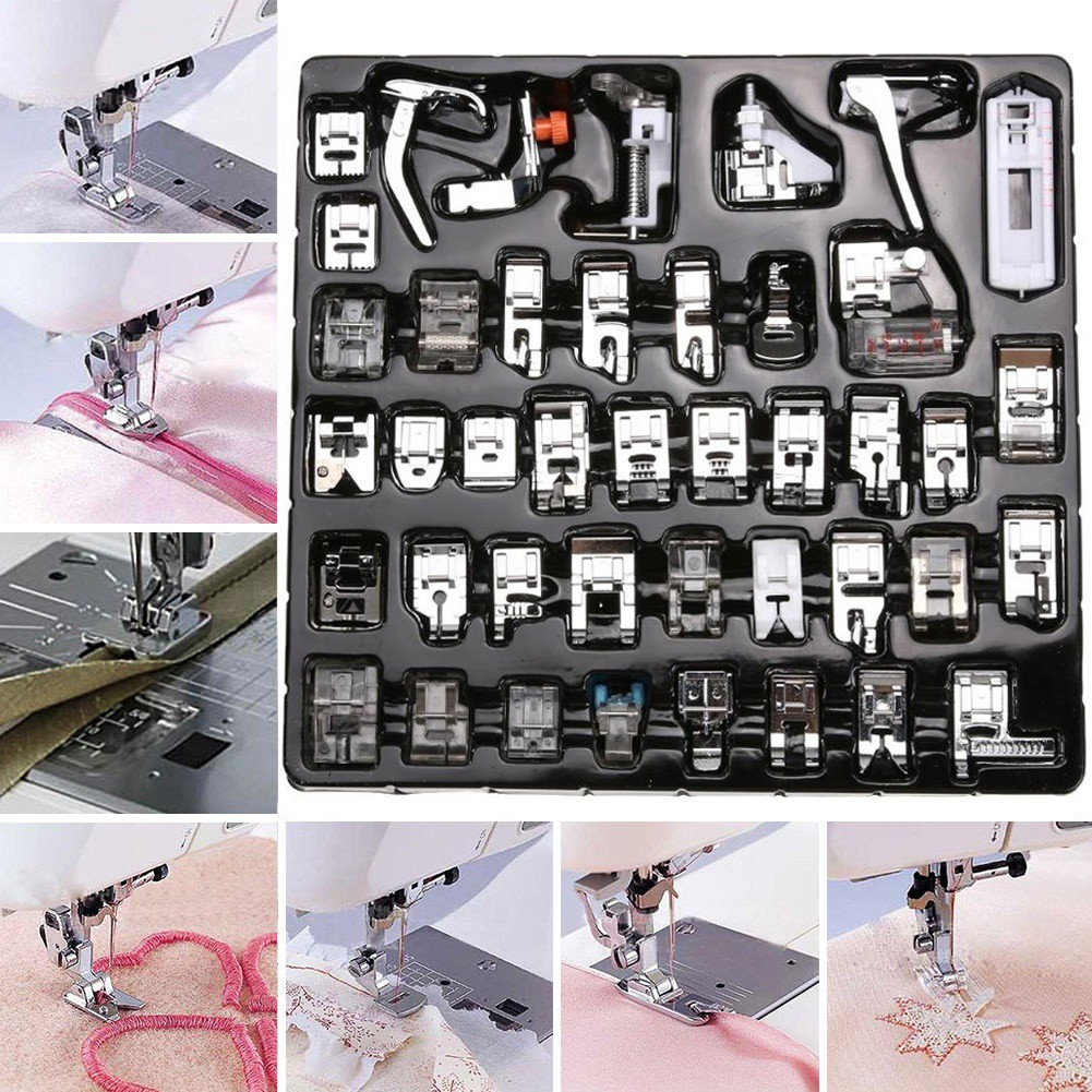 ♥superH♥42Pcs Presser Foot Feet For Brother Singer Domestic Sewing Machine Part Tool Kit