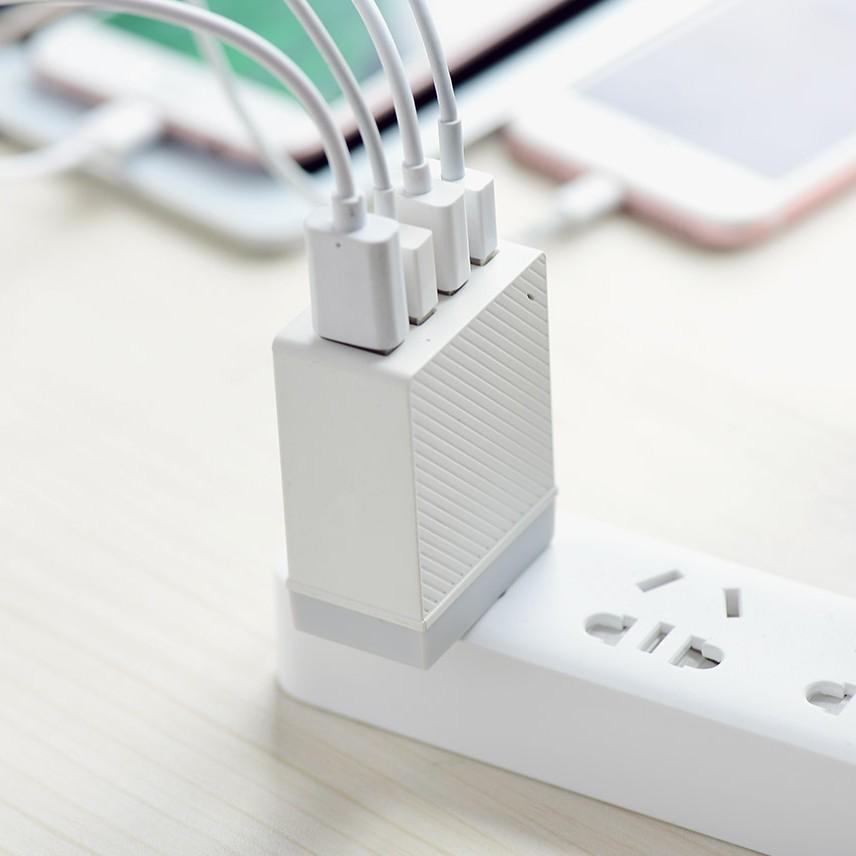 CỐC SẠC 4 CỔNG USB CAO CẤP HOCO C23B HÀNG CHÍNH HÃNG 1 ĐỔI 1