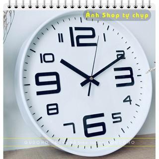 [Sale Khai Trương] Đồng Hồ Treo Tường Tròn Quartz Kim Trôi Cao Cấp 30cm- BẢO HÀNH 12 THÁNG thumbnail