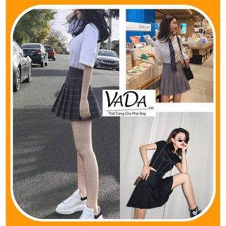 Chân váy nữ xếp ly QUỐC DÂN nàng nên có phong cách Hàn Quốc năng động thể thao Thời Trang VADA – CV99