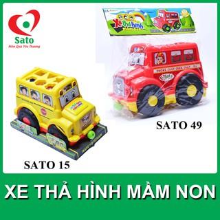 FREESHIP đơn 99K_ Bộ đồ chơi xe thả hình mầm non SATO