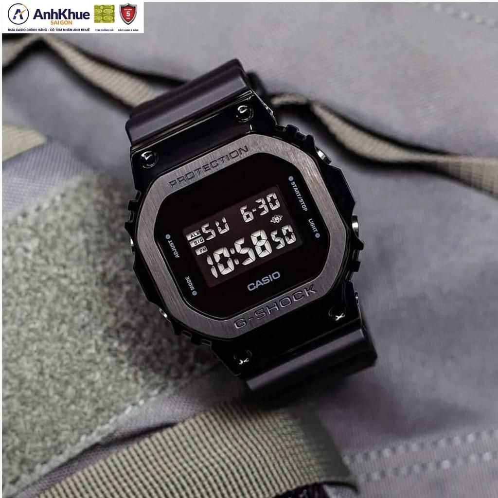 Đồng hồ nam Casio G-SHOCK DW-5600E-1VDF  Dây cao su mặt kính chống xước hiện thị ANALOG
