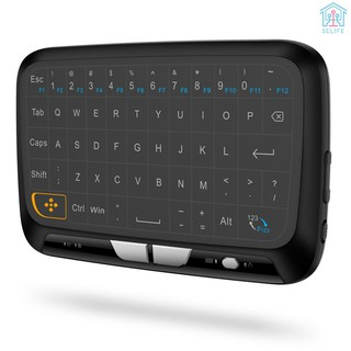 【E&V】H18 2.4GHz Wireless Keyboard Full Touchpad Remote Control Keyboard Mouse Mode with Large Touch Pad Vibration Feedback for Smart TV Android TV Bo