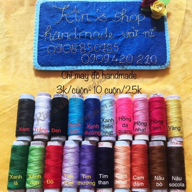 ☘Chỉ cuộn chuyên dùng may thêu đồ handmade, may vải nỉ, len, thêu thùa, phụ liệu may mặc☘️