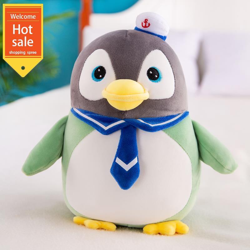 Búp bê chim cánh cụt dễ thương búp bê đồ chơi sang trọng kích thước búp bê ngủ gối con...