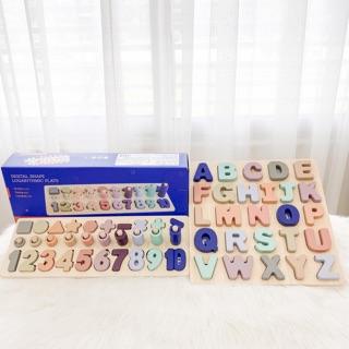Bộ số Chữ bằng gỗ