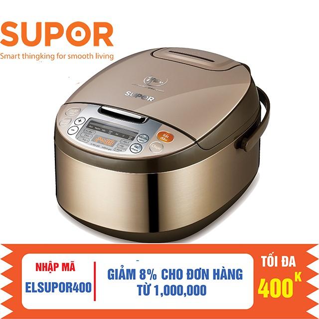 [ELHATOP11 giảm 9% tối đa 1TR5] Nồi cơm điện tử 1.8L Lồng nồi Niêu Supor CFXB50FC33VN 1.8L
