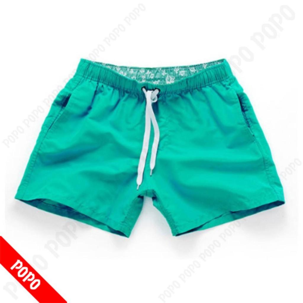 Quần bơi nam Short Xanh lá quần đi bơi mau khô, thoáng khí chất liệu cao cấp POPO Collection