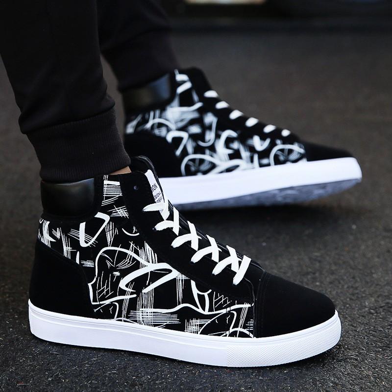 Giày Nam, Giày Thể Thao Sneaker Nam Cổ Cao G36 Phong Cách Hàn Quốc