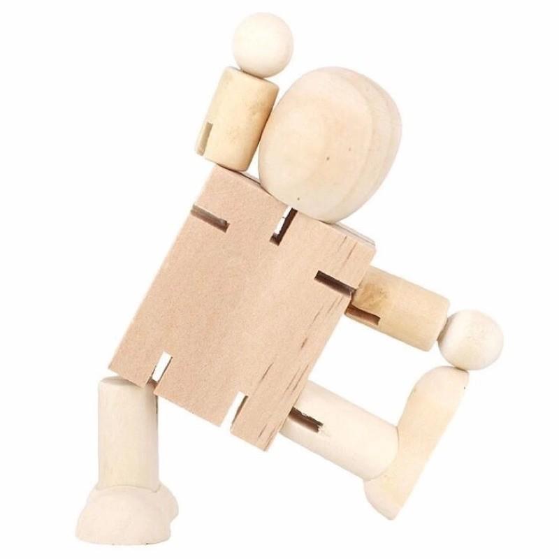Người gỗ trang trí bàn học/bàn làm việc