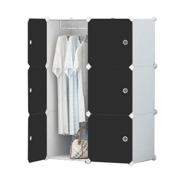 Tủ nhựa ghép,tủ quần áo,tủ nhựa đựng quần áo đa năng tâm house đủ 6 ô