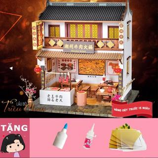 Mô hình nhà gỗ tự ráp Lẩu bò Triều Châu