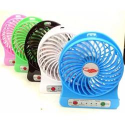 Quạt điều hòa Quạt mini fan xài pin sạc tích điện có đèn