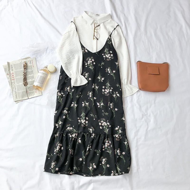 Bắp_Shop Đầm hoa 2 dây Hàng Order