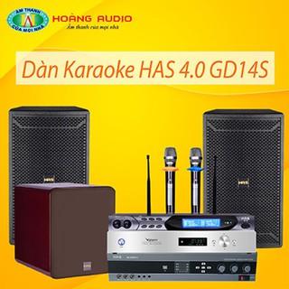 Bộ dàn karaoke gia đình HAS 4.0 GD14S thumbnail