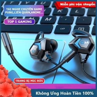 Tai nghe chơi game nhét tai có dây cho điện thoại máy tính G28 Gaming Bass 2021 có mic đàm thoại, âm thanh cực chất