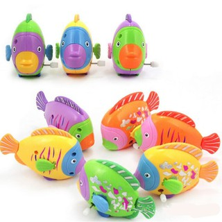 1PC Random Color Wind Up Clockwork Fish Children Toy