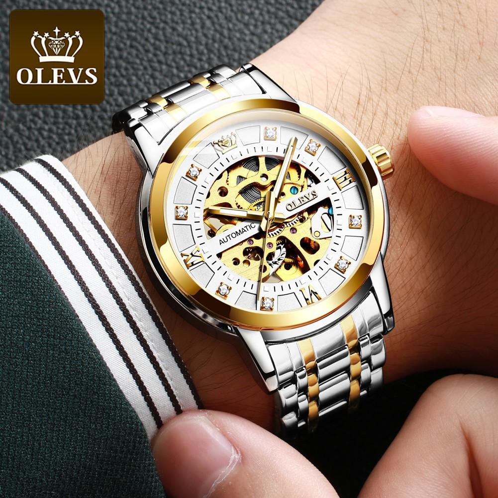 Đồng hồ thời trang nam Olevs 9901 dây kim loại sang trọng
