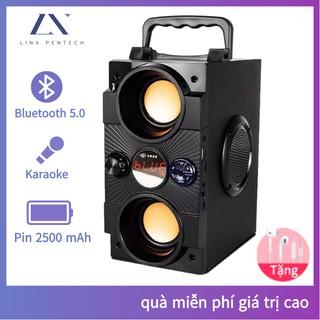 Loa karaoke Bluetooth gia đình,[Không micro] di động loa âm lượng cực đại 100W, pin 2500 mA, phát liên tục trong 8 giờ