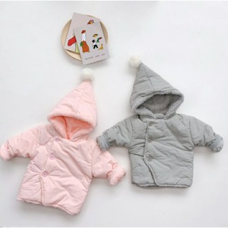 Áo khoác/áo lông dài tay/Thời trang trẻ em có mũ thiết kế cho bé gái bé trai
