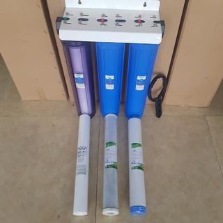 Bộ 3 lõi lọc thô số 123 lọc thô nước sinh hoạt 20 inch