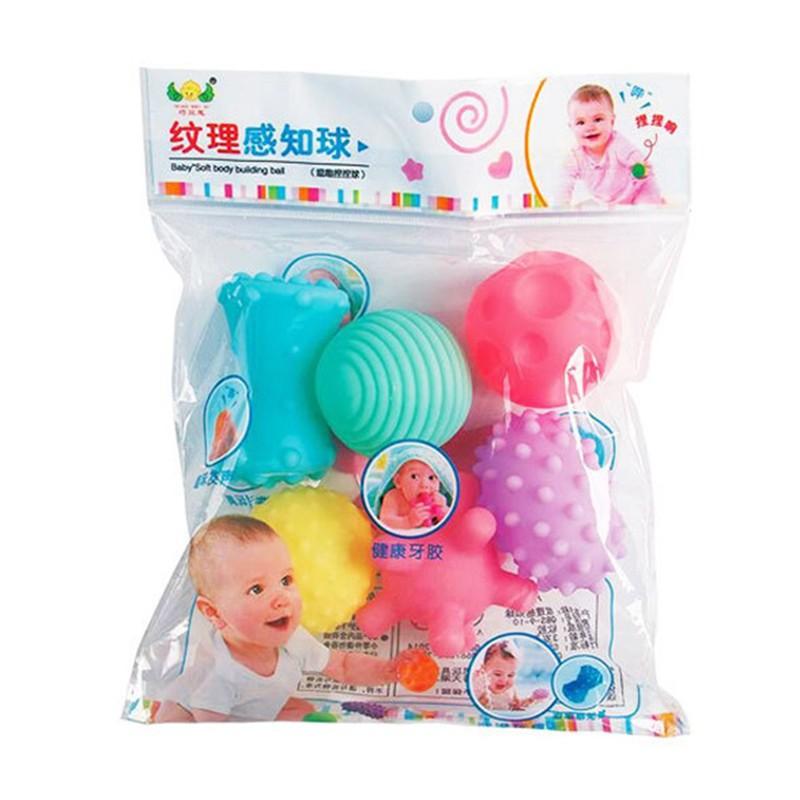 Bộ đồ chơi bóng nhựa mềm phát tiếng kêu cho bé