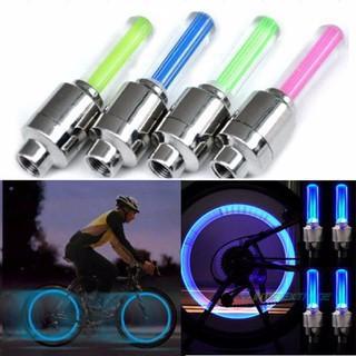 (M02) Combo 02 đèn gắn van xe phát sáng, dùng cho xe đạp, xe máy siêu độc đáo & cá tính-s91  đẹp (rẻ)