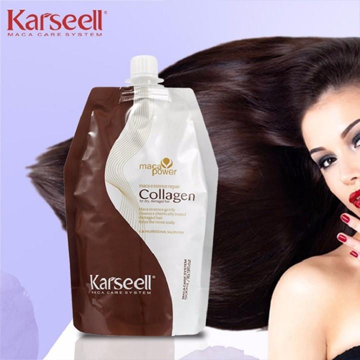 Kem Hấp Tóc Collagen Karseell Maca Dạng Túi 500ML