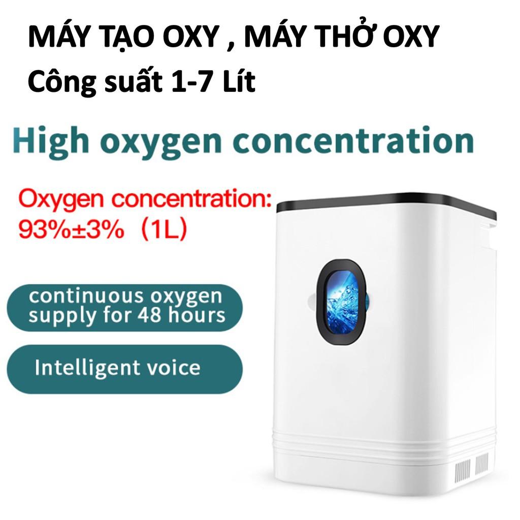 Máy tạo Oxy Máy thở Oxy Smart Pro Công Suất 1-7L / phút Màn hình cảm ứng Điều khiển từ xa - Có thể điều chỉnh không khí.