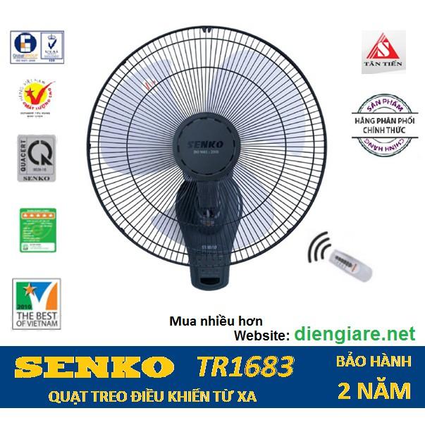 Quạt treo tường điều khiển từ xa SENKO TR1683