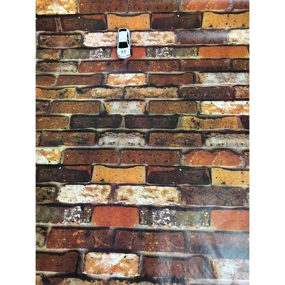 Giấy dán tường giả gạch tự nhiên khổ rộng 90cm