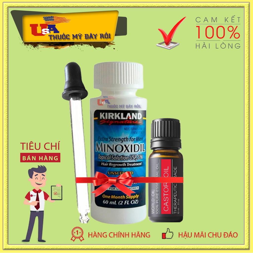 Minoxidil 5% Mọc Lông Mày Cho Nam + Dầu Dưỡng Castor Oil 10ML (Thầu Dầu)