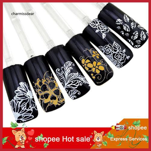 CMSD_1 Sheet 3D Bowknot Decal Nail Art Stickers Tips DIY Decoration Manicure Tool