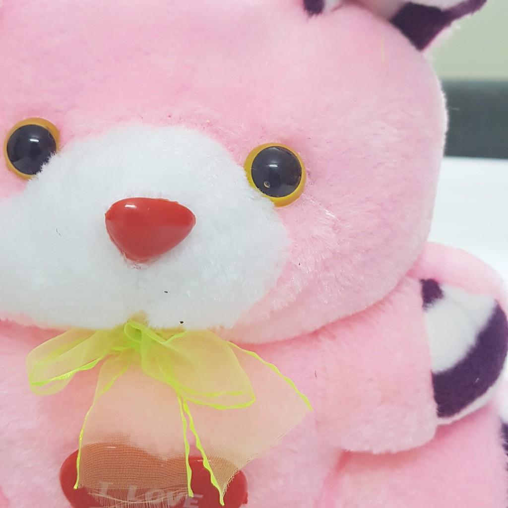 Gấu bông đeo nơ i love you đáng yêu Cao Cấp