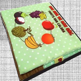 Sách vải cho bé chơi mà học Pipo – Hoa quả và màu sắc