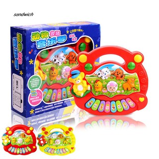 SDWC Children Cartoon Animal Electronic Keyboard Piano Music Light Educational Toy