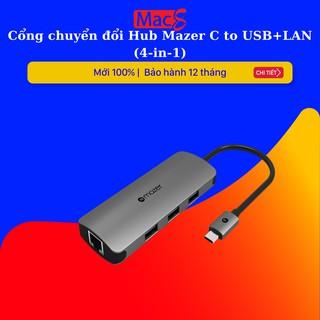 Cổng chuyển đổi Hub Mazer C to USB+LAN (4-in-1)