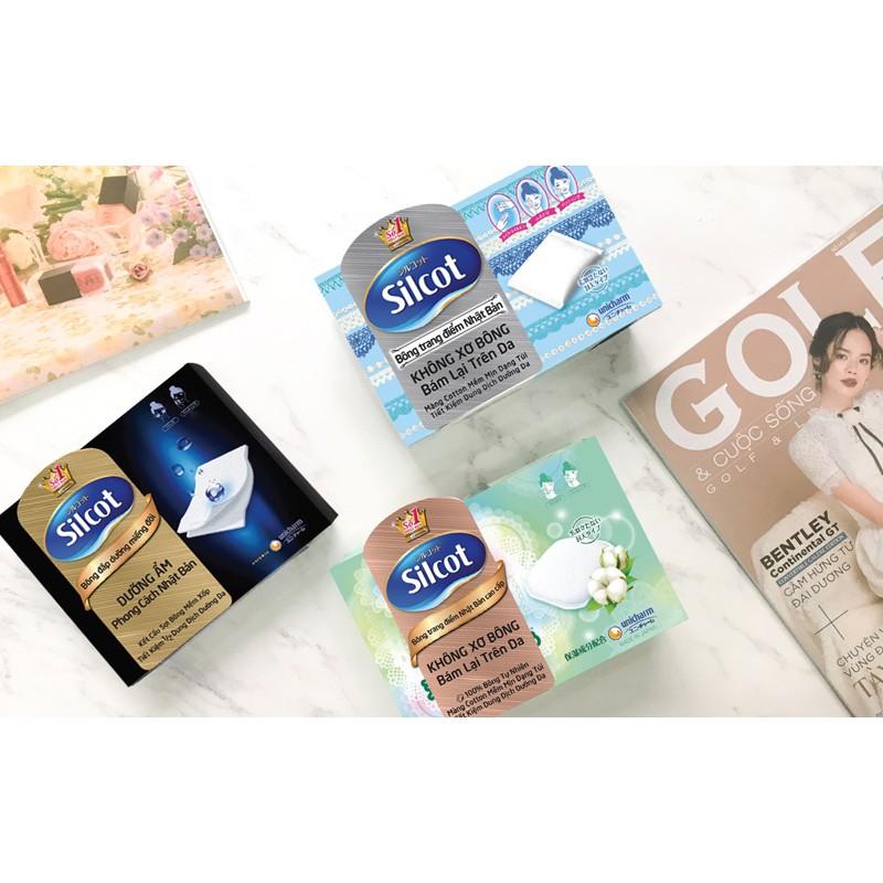 Silcot Bông Trang Điểm (bông tẩy trang) Nhật Bản Cao Cấp (Hộp 66 miếng, 82  miếng) | Shopee Việt Nam