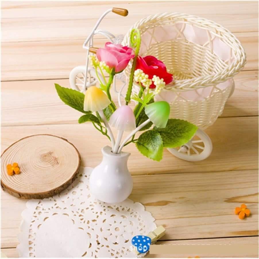 [KHO BUÔN GIA DỤNG] Đèn ngủ hoa và nấm hình lọ hoa loại to