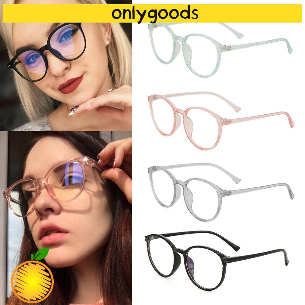 🎉ONLY🎉 Cool Optical Eye Glasses Reduces Eye Strain Anti-Blue Rays Vintage Eyeglasses Transparent Round Frame High-definition Ultralight Clear Lens Unisex...