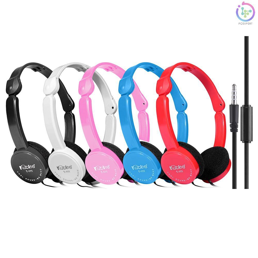 Tai nghe chụp tai thể thao KUBITE T-111 có dây 3.5mm gấp lại được nhỏ gọn  dành cho chơi game nghe nhạc - Tai nghe có dây chụp tai (On-Ear)