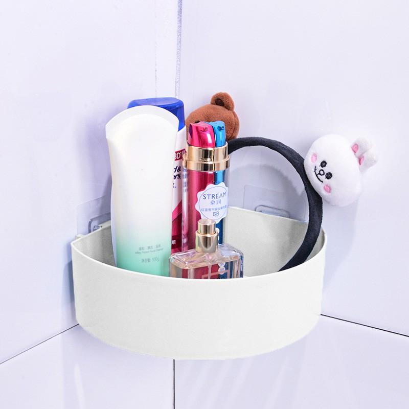 Giá lưu trữ bằng nhựa gắn góc tường phòng tắm/bếp tiện dụng